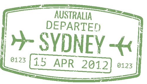 Passport stamp Sydney