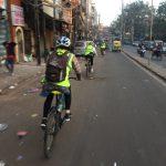 biking old delhi india